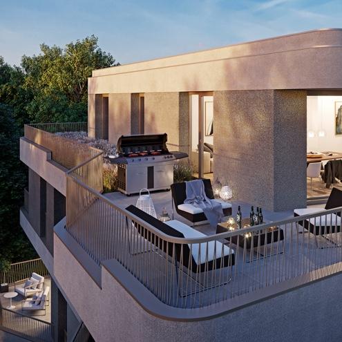 Dreizeit Stuttgart - Die Penthouse-Wohnung mit Dachterrasse