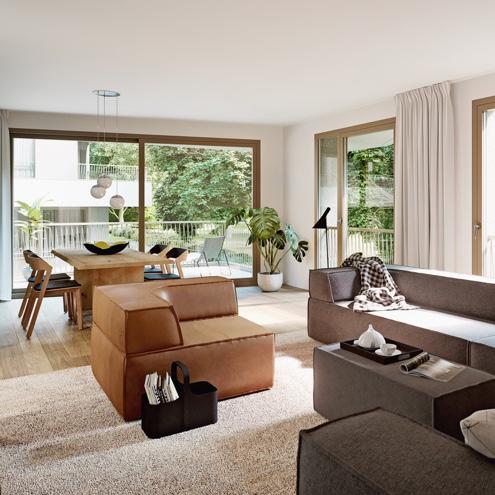 Dreizeit Stuttgart - Wohn- & Essbereich, 2-3-Zimmer-Wohnung, 1. Obergeschoss