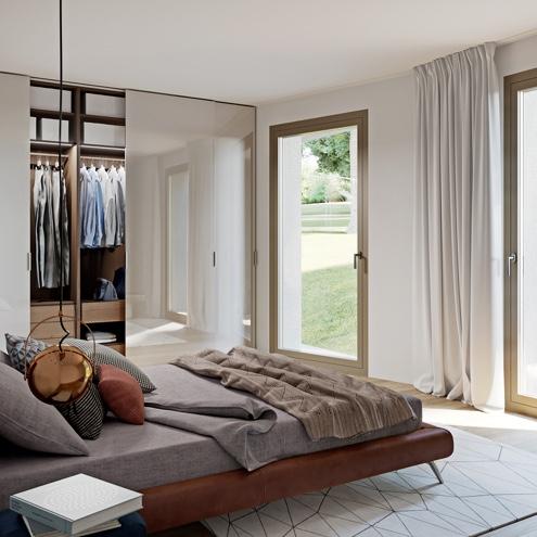 Dreizeit Stuttgart - Schlafzimmer, 4-Zimmer-Wohnung mit Gartenterrasse, Erdgeschoss