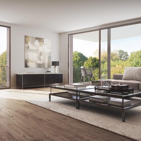 Dreizeit Stuttgart - Wohn- & Essbereich, 2-3-Zimmer-Wohnung mit Balkon, 2. Obergeschoss