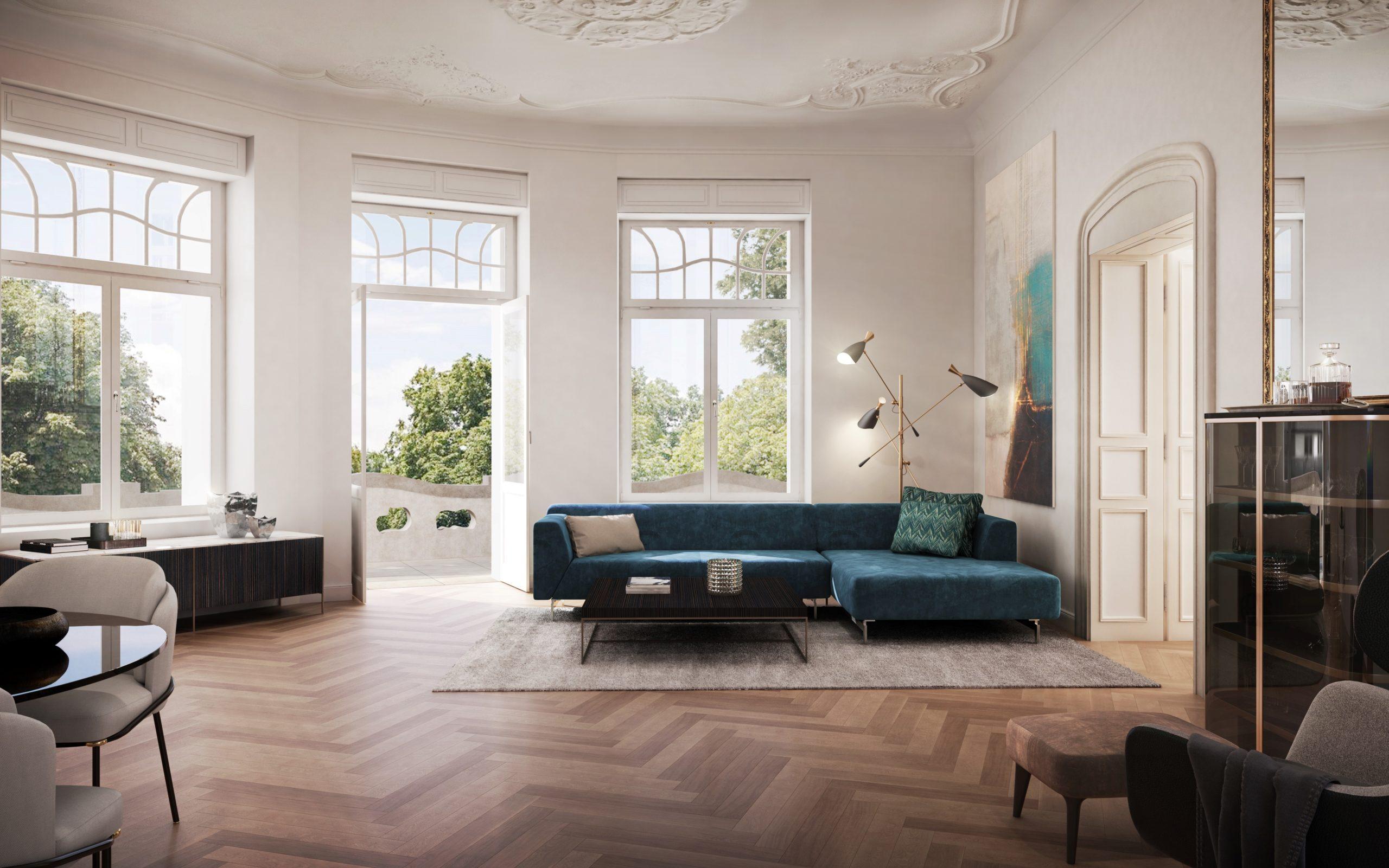 Palatium Dresden - Weiträumige Wohnbereiche bilden das Herzstück